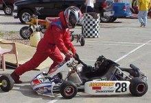 Photos with my Rotax Junior 125cc