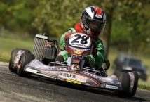 Jackie Weiss with her Rotax Max Junior 125cc at the Rmax Challenge US Grand Nationals in South Bend, Indiana