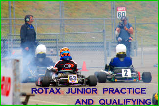 Practice and Qualifying at the LAKC CalSpeed in Fontana for the Champ Car Rotax Kart Challenge