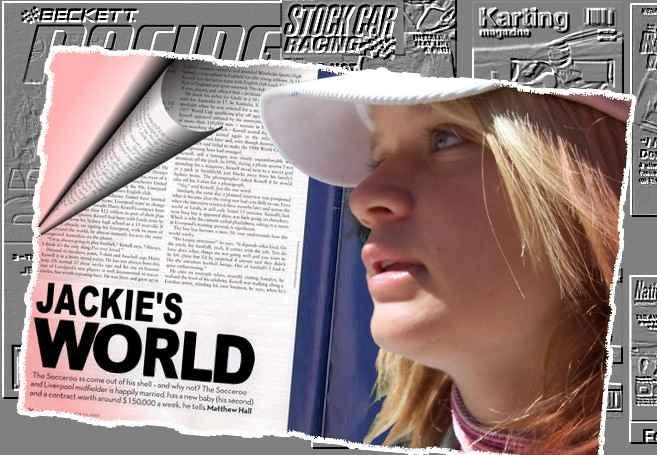 Female Rotax Junior  Kart Driver Jackie Weiss - kart racing in a boy's field...