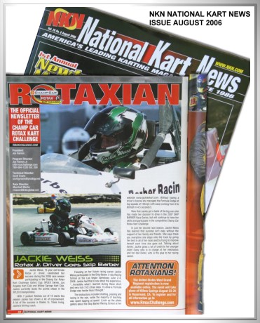 Jackie Weiss's progression covered by the NKN National Kart News in the August 2006 Issue